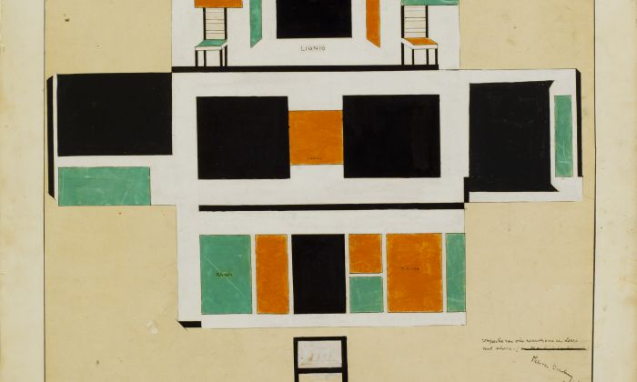 Theo van Doesburg, Conservatory design of the house for Bart de Ligt, 1918, Het Nieuwe Instituut Collection, gift Van Moorsel.