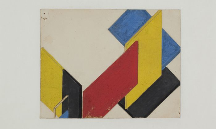 Theo van Doesburg. Contra-Construction, 1923-24. Collection Het Nieuwe Instituut, Van Moorsel gift, DOES AB5120b