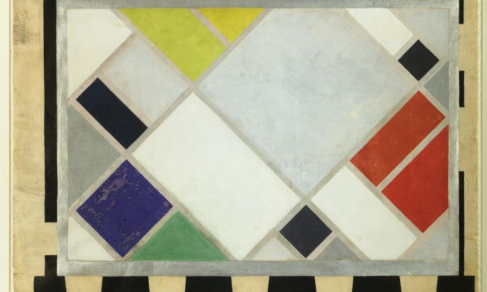 Theo van Doesburg. Colour design for Aubette, 1927. Collection Het Nieuwe Instituut,  DOES AB5188,
