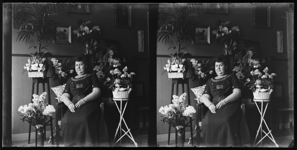 Stereo glass plate negative from the archive of J.W. E. Buijs, probably made in the Dutch East Indies. Collection Het Nieuwe Instituut, BUYS n6.