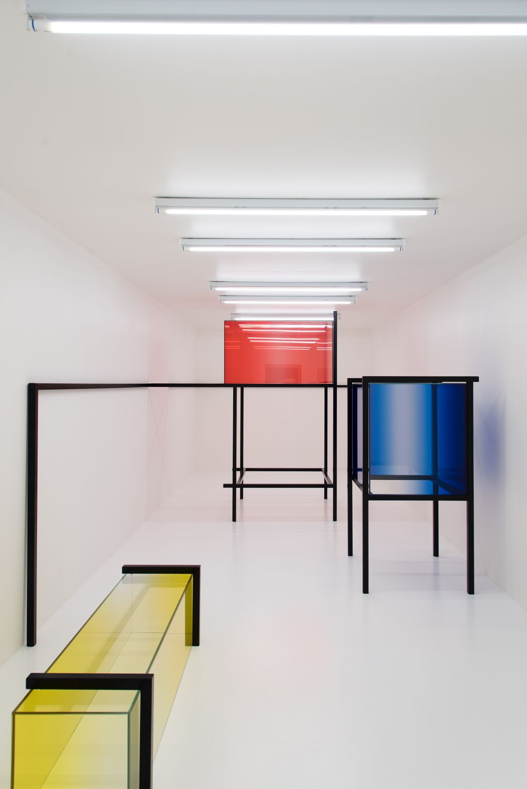 Spatial Composition in Red, Blue, and Yellow by Studio Sabine Marcelis. Photo Petra van der Ree