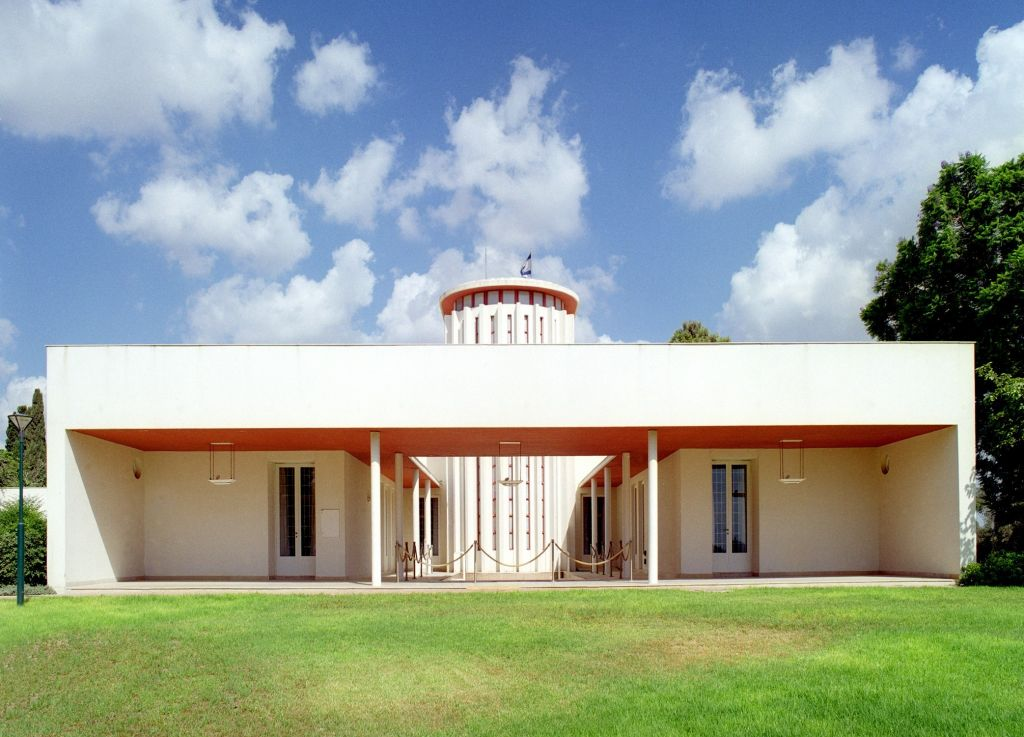 Weizmann House, van architect Erich Mendelsohn. Foto Weizmann Institute of Science.